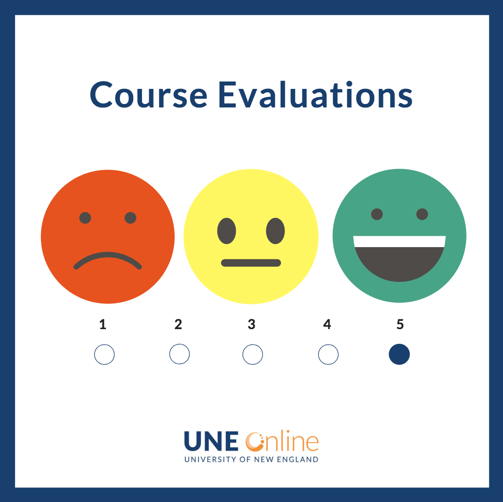 Course evaluations at UNE Online